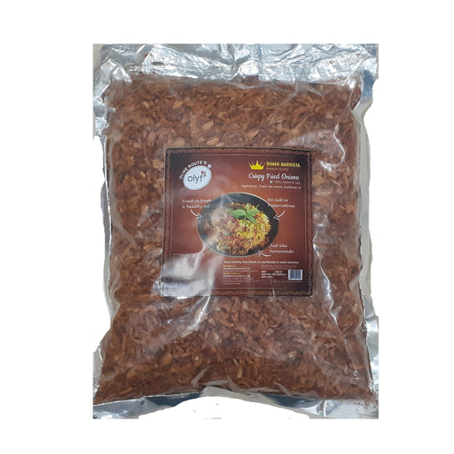 Olyf Shahi Birista Crispy Fried Onions, 100% Natural & Veg, Vegetable Oil, 900gm