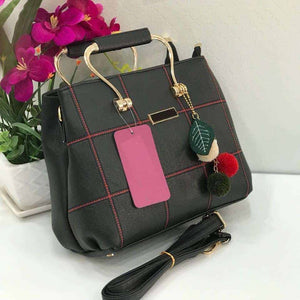 Olyf Charm Black and Red Bag - Olyf By Olive Route | Buy Natural, Vegan, Traditional Indian Products
