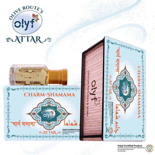 Olyf Premium Combo FOR Men - Charm Shamama and Crystal Oud, Pack of 2 - Olyf By Olive Route | Buy Natural, Vegan, Traditional Indian Products