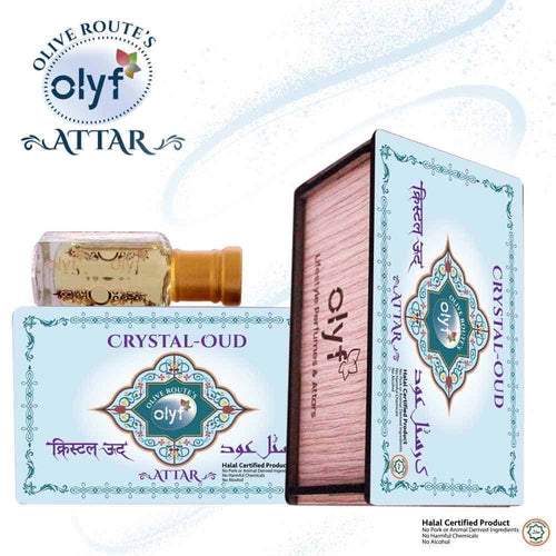 Olyf Crystal Oudh Attar for Men, (Buy 1 Get 1 Free) - Olyf By Olive Route | Buy Natural, Vegan, Traditional Indian Products