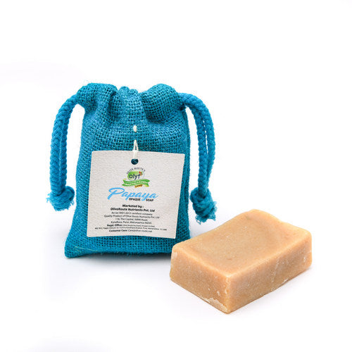 Olyf Opaque Papaya Soap, 100gm - Olyf By Olive Route | Buy Natural, Vegan, Traditional Indian Products