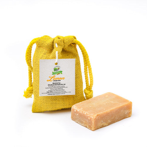 Olyf Opaque Lemon Soap, 100gm - Olyf By Olive Route | Buy Natural, Vegan, Traditional Indian Products