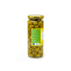 Olyf Green Pitted Olives, 450gm - Olyf By Olive Route | Buy Natural, Vegan, Traditional Indian Products