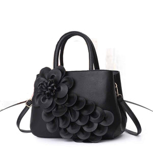 Olyf Floral Black Bag - Olyf By Olive Route | Buy Natural, Vegan, Traditional Indian Products