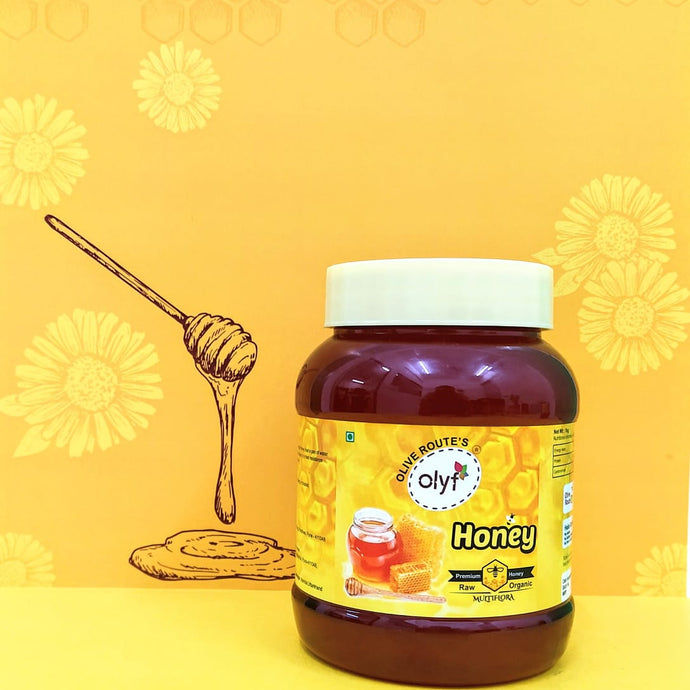 Olyf Natural Raw Honey, 1kg - Olyf By Olive Route | Buy Natural, Vegan, Traditional Indian Products