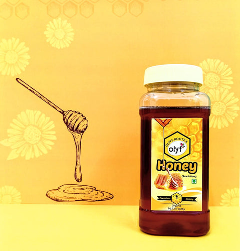 Olyf Natural Raw Honey, 500gm - Olyf By Olive Route | Buy Natural, Vegan, Traditional Indian Products