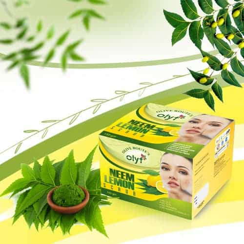 Olyf N Facial Combo of Two - Neem & Lemon Scrub and Neem Facewash - Olyf By Olive Route | Buy Natural, Vegan, Traditional Indian Products