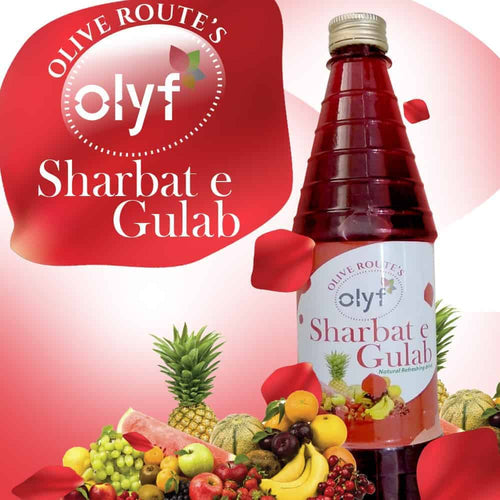 Olyf Sharbat E Gulab, 700ml - Olyf By Olive Route | Buy Natural, Vegan, Traditional Indian Products