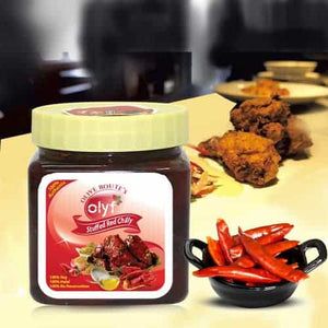 Olyf Stuffed Red Chillies Pickle, 250gms - Olyf By Olive Route | Buy Natural, Vegan, Traditional Indian Products