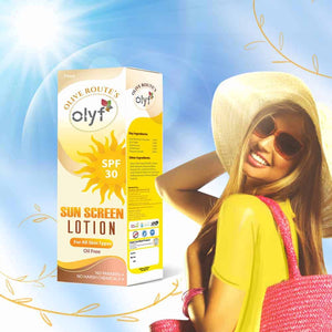 OLYF Sun Screen Lotion, SPF 30, 75g - Olyf By Olive Route | Buy Natural, Vegan, Traditional Indian Products