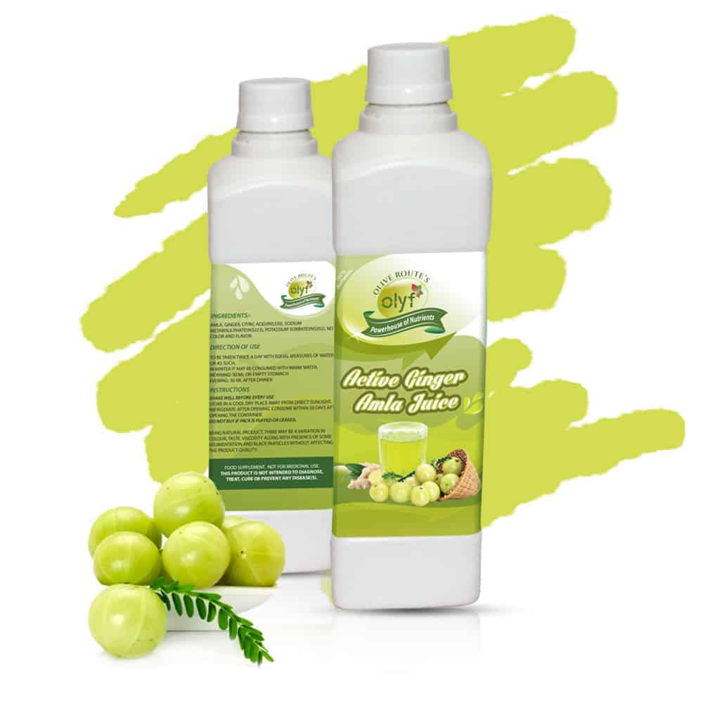 Olyf Herbal Combo - Amla and Jamun, Cold Pressed - Pack of 2 (500ml each) - Olyf By Olive Route | Buy Natural, Vegan, Traditional Indian Products