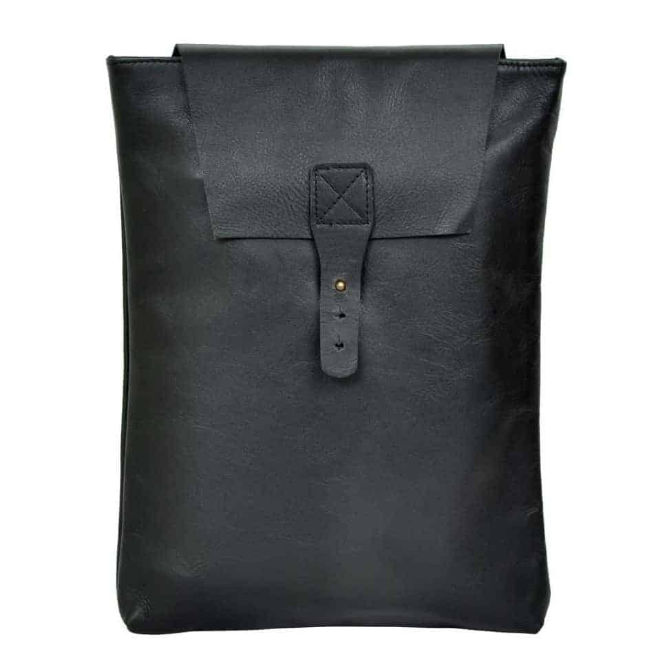 Olyf Black Bagpack Nappa Leather and Black Goat lining - Olyf By Olive Route | Buy Natural, Vegan, Traditional Indian Products