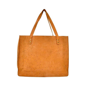 Olyf Tan Tote Bag Buff Nubuck Leather - Olyf By Olive Route | Buy Natural, Vegan, Traditional Indian Products