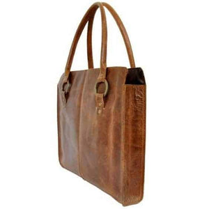 Olyf Brown Shoulder Bag Buff Crunch Leather - Olyf By Olive Route | Buy Natural, Vegan, Traditional Indian Products