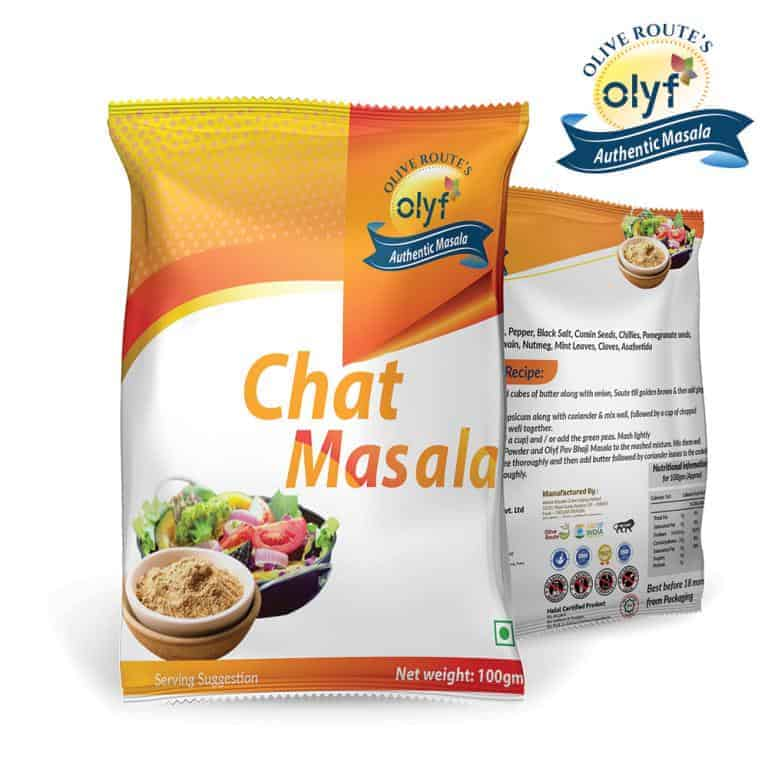 Olyf Spices Combo - Chat, Chole and Pav Bhaji, Pack of 3 (100gms each) - Olyf By Olive Route | Buy Natural, Vegan, Traditional Indian Products