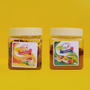 Olyf Pickle Combo - Mango and Mixed - Pack of 2 (250gms each) - Olyf By Olive Route | Buy Natural, Vegan, Traditional Indian Products