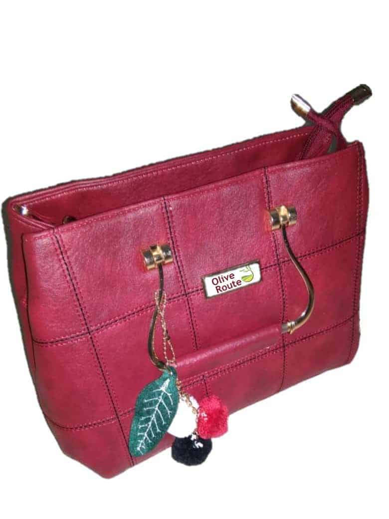 Olyf Maroon Handbag - Olyf By Olive Route | Buy Natural, Vegan, Traditional Indian Products