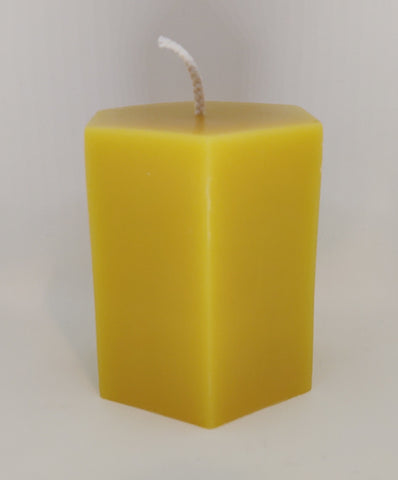 Bees Wax Candles Hexagon Pillar