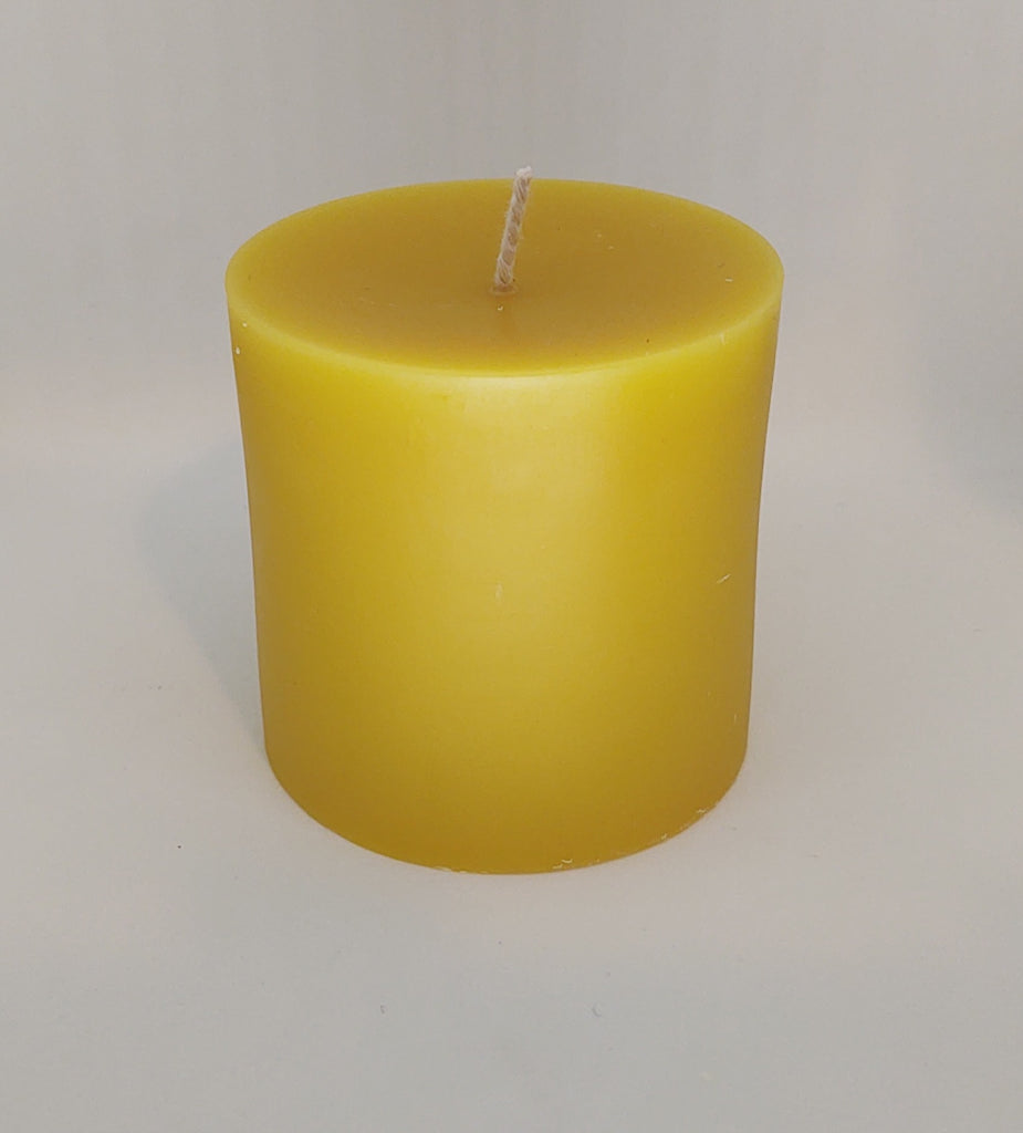 Bees Wax Candles 3 Inch Round Pillars