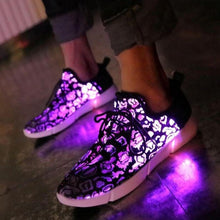 Load image into Gallery viewer, Led Fiber Optic Rechargeable Light Up Shoes - Brands for Trends
