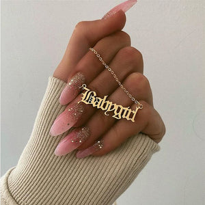 Babygirl Letter Necklace - Brands for Trends