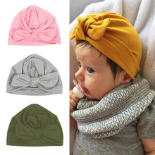 Load image into Gallery viewer, 10 Colors Autumn Winter Newborn Hat  Baby Toddler Kids Boy Girl Turban Hair Accessories - Brands for Trends