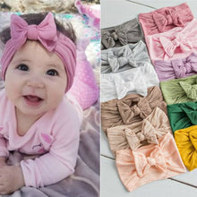 Load image into Gallery viewer, Baby Girl Headbands and Bows Classic Headwrap Soft Stretchy Nylon - Brands for Trends