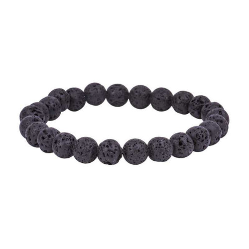 Black Lava Stone Men Bracelet - Brands for Trends