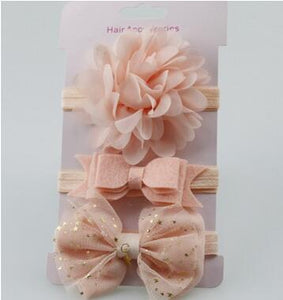3Pcs Baby Elastic flower headband Headbands Hair Girls - Brands for Trends