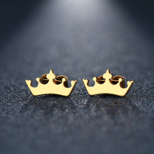 King Steel Stud Earring - Brands for Trends