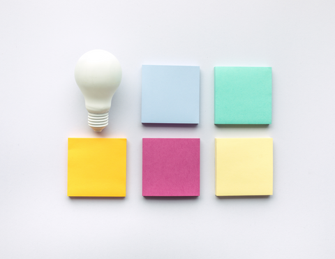 Ideas and Creativity Turning the LightBulb On Post Its