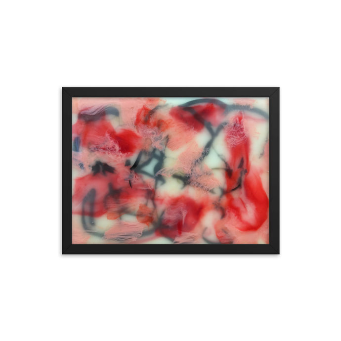 Encaustic # 1 Personalized Premium Luster Photo Paper Framed Poster