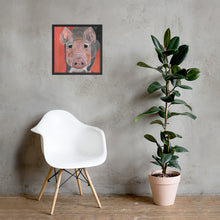 Load image into Gallery viewer, Savannah's Piglet Premium Luster Photo Paper Framed Poster