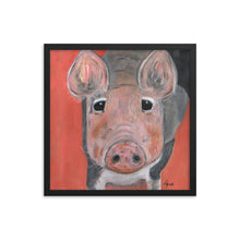 Load image into Gallery viewer, Savannah's Piglet Enhanced Matte Paper Framed Poster