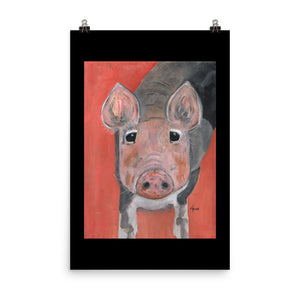 Savannah's Piglet Enhanced Matte Paper Poster