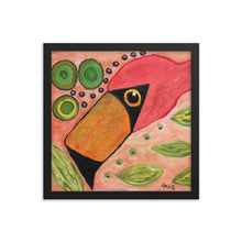 Load image into Gallery viewer, Funky Flamingo Personalized Enhanced Matte Paper Framed Poster