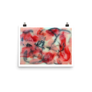 Encaustic # 1 Personalized Enhanced Matte Paper Poster
