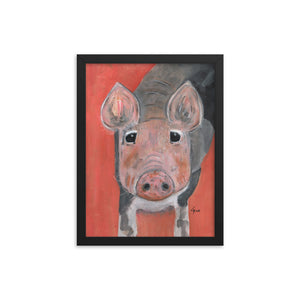 Savannah's Piglet Enhanced Matte Paper Framed Poster