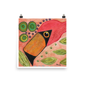 Funky Flamingo Personalized Enhanced Matte Paper Poster