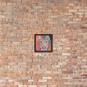 Savannah's Piglet Premium Luster Photo Paper Framed Poster