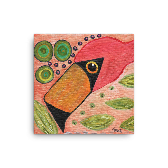 Funky Flamingo Personalized Canvas