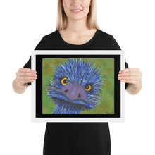 Load image into Gallery viewer, Blu Mu Framed poster with Black Background
