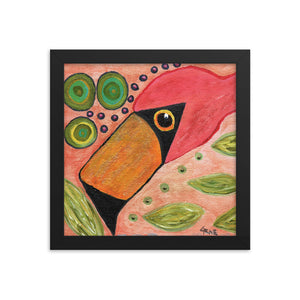 Funky Flamingo Personalized Enhanced Matte Paper Framed Poster