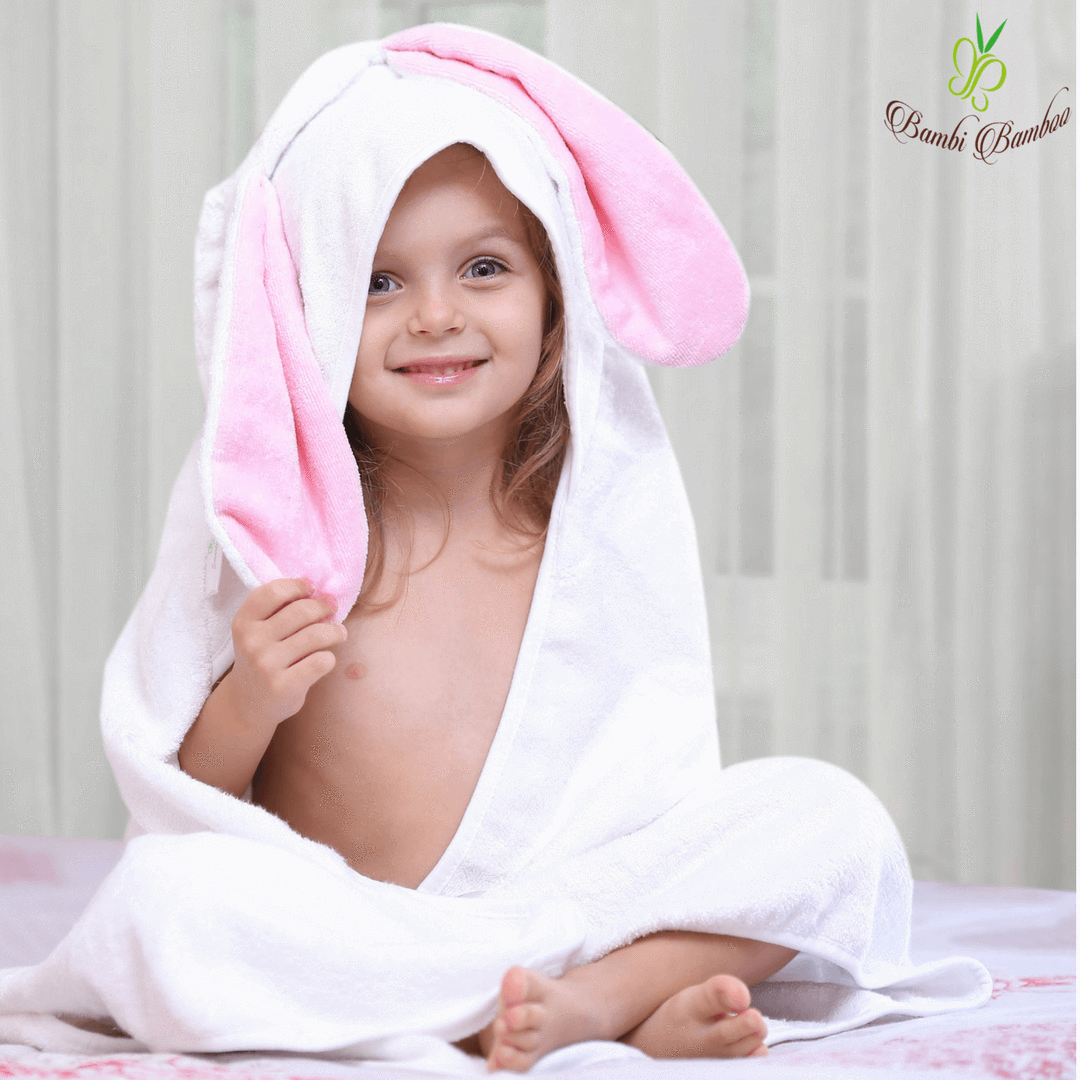 Kids & Babies Bamboo Baby Bunny Hooded Towel