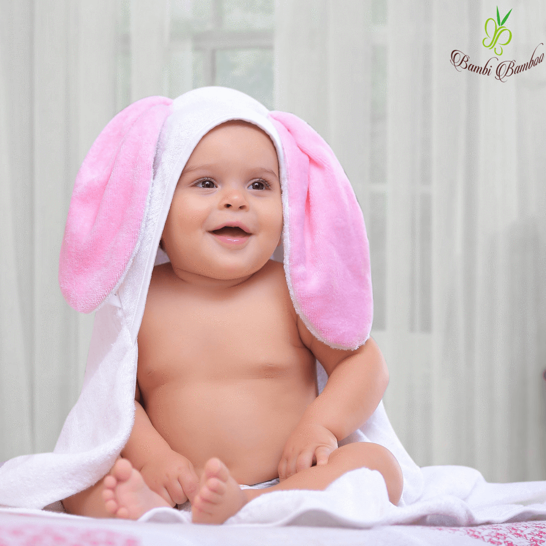 Bamboo Baby Bunny Hooded Towel