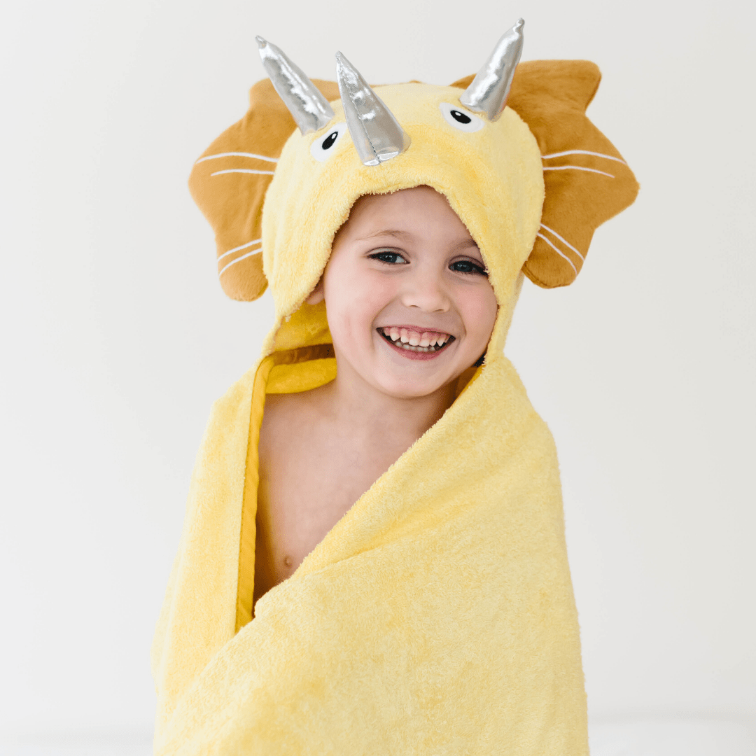 Bamboo Baby Dinosaur Hooded Towel