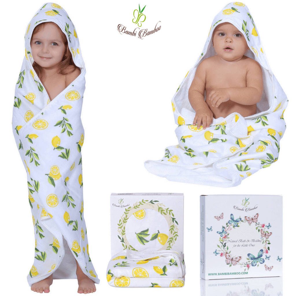 Kids & Babies Bamboo Baby Hooded Lemon Towel