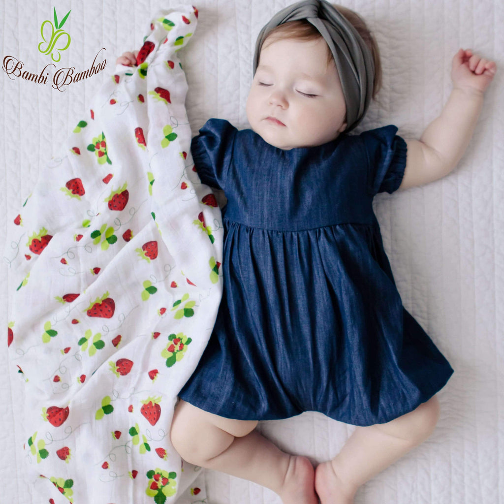 Kids & Babies Bamboo Baby Swaddle Strawberry Lemon Blankets