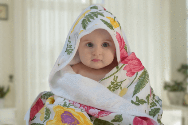 Kids & Babies Beautiful Soft Bamboo Hooded Baby Towel