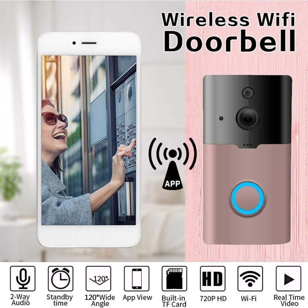 wifi video doorbell Black Best Wireless WiFi Smart Video Doorbell Camera 720P HD